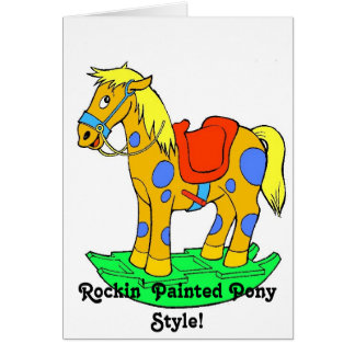 ¡Rockin pintó estilo del potro!  Tarjeta de cumple