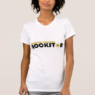 Rockstar de enseñanza preescolar camisetas