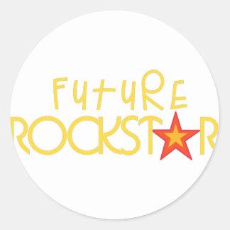Rockstar futuro pegatina redonda