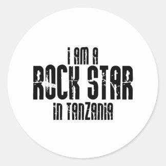 Rockstar Tanzania Pegatina Redonda