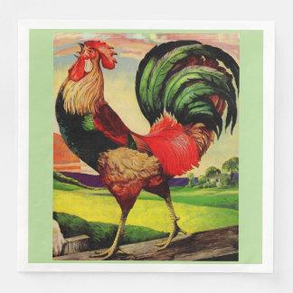 Rocky el gallo hermoso servilletas desechables