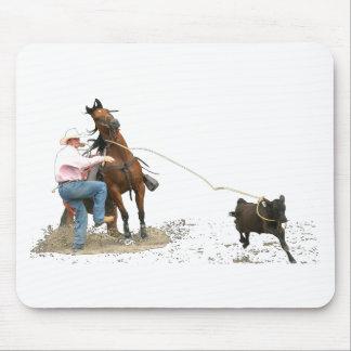 Rodeo - el atar del becerro; El Roping del becerro Alfombrilla De Ratón