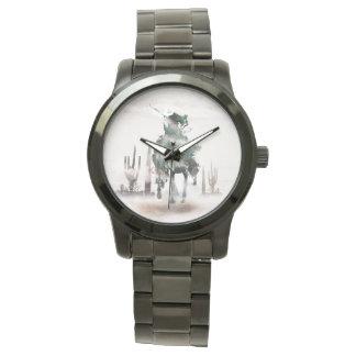 Rodeo - exposición doble - vaquero - vaquero del reloj