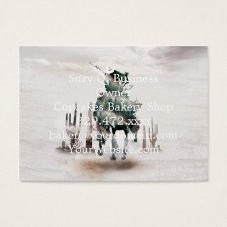Rodeo - exposición doble - vaquero - vaquero del tarjeta de visita