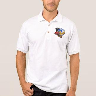 Rodilleras de la bola del zapato del voleibol con camisas polo