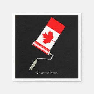 Rodillo de pintura canadiense de la bandera servilletas de papel