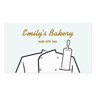 Rodillo del chef de repostería de la panadería del tarjetas de visita