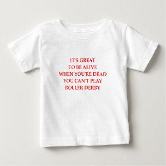 rodillo derby camiseta de bebé