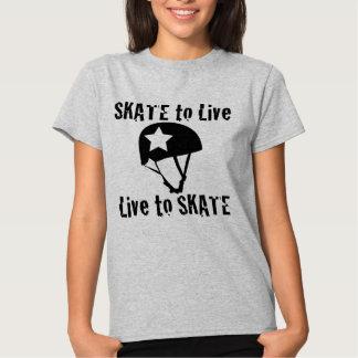 Rodillo Derby, patín a vivir vivo para patinar, Camiseta