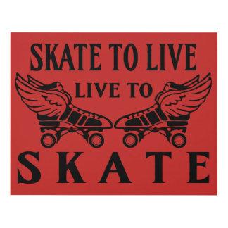 Rodillo Derby, patín a vivir, vivo patinar Cuadro