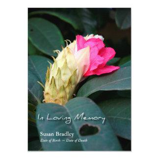 Rododendro 2 - Celebración de la invitación de la Invitación 11,4 X 15,8 Cm