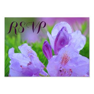 Rododendro después del compromiso RSVP del boda de Invitación 8,9 X 12,7 Cm