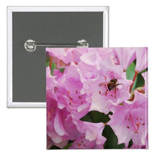 Rododendro y abeja rosados pins