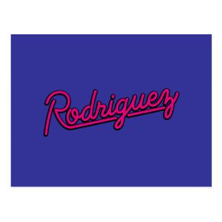 Rodriguez en magenta postal