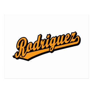 Rodriguez en naranja postal