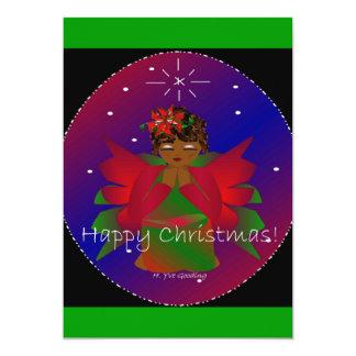 Rogación de la niña del ángel de las felices invitación 12,7 x 17,8 cm
