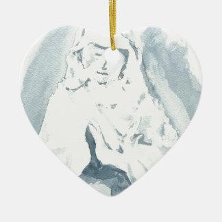 Rogación del Virgen María Adorno De Cerámica En Forma De Corazón