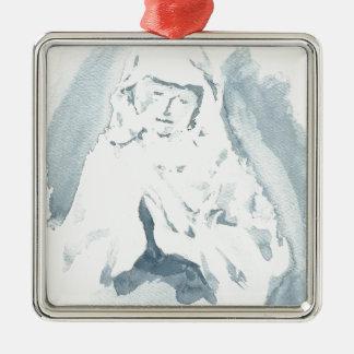 Rogación del Virgen María Adorno Navideño Cuadrado De Metal