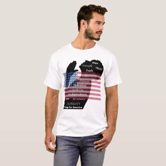 Rogación para la camisa de América con la bandera