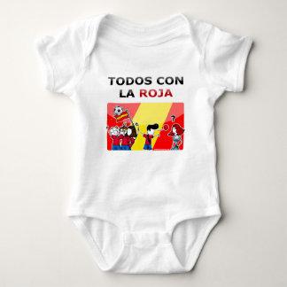 ¡Roja del la de la estafa del Todos del ¡! Body Para Bebé