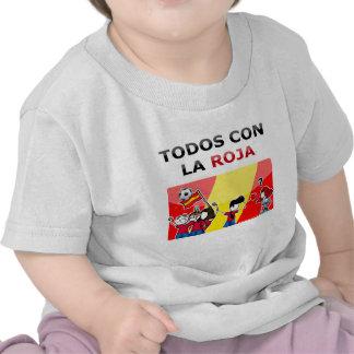 ¡Roja del la de la estafa del Todos del ¡! Camiseta