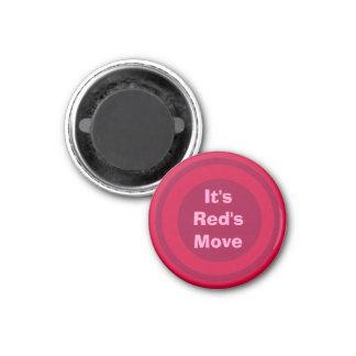 Rojo 1-1/4 del marcador del ~TAG~ de los inspector Imán Para Frigorifico