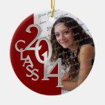 Rojo 2014 y plata de la foto de la graduación de l ornato