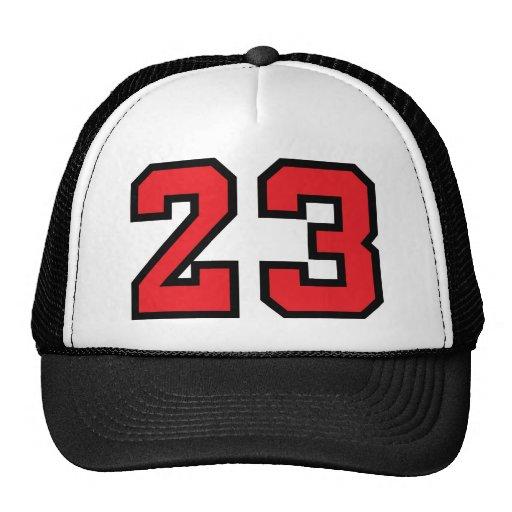 Rojo 23 gorro
