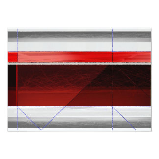 Rojo abstracto invitación 12,7 x 17,8 cm