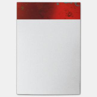 Rojo, aguamarina y arte abstracto de Digitaces del Notas Post-it®