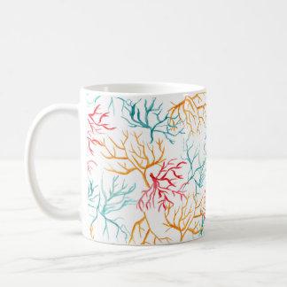 Rojo anaranjado del trullo de las ramas del taza de café