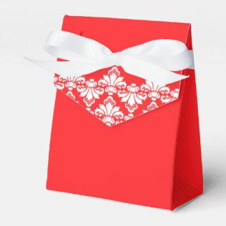 Rojo antiguo de la caja del favor del boda del