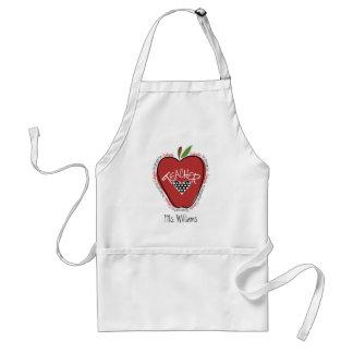 Rojo Apple del maestro de jardín de infancia Delantal