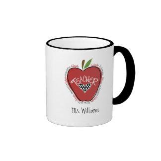 Rojo Apple del maestro de jardín de infancia Taza