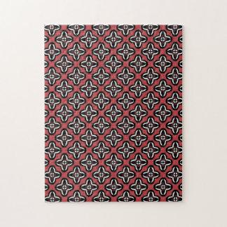 Rojo blanco negro todo debajo puzzle