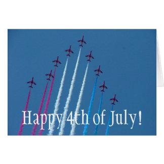 ¡Rojo, blanco y azul, felices el 4 de julio! Tarjeta De Felicitación