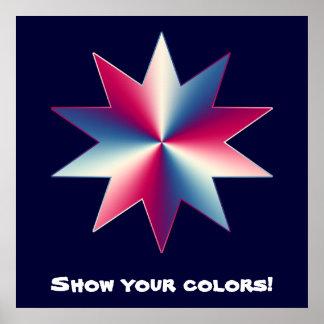 Rojo, blanco y azul póster