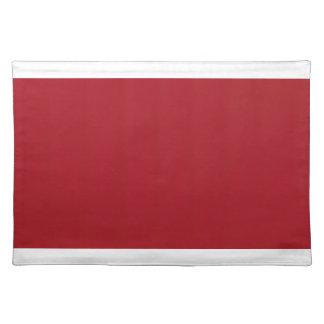 Rojo cereza Placemat con los bordes blancos Salvamanteles