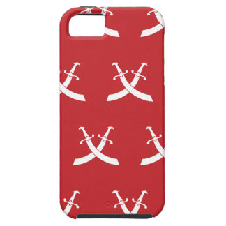 Rojo claro blanco de las espadas iPhone 5 Case-Mate cárcasa
