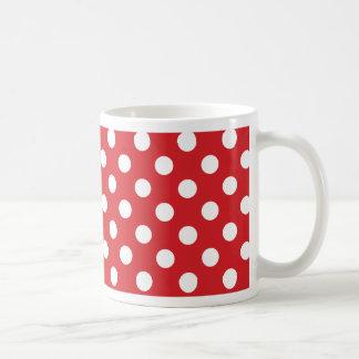 """Rojo clásico de la decoración """"con los lunares taza"""