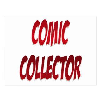 Rojo cómico del colector postales