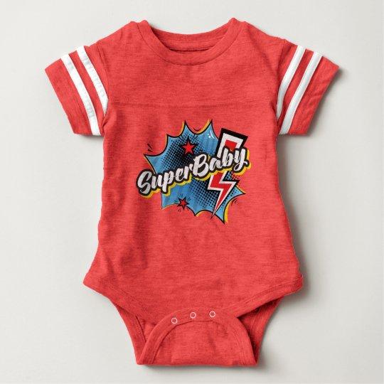 ROJO cómico del regalo del bebé del mono del super Body Para Bebé