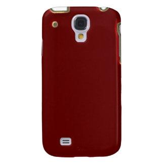 Rojo con la frontera iPhone3G del brillo del oro Funda Para Galaxy S4