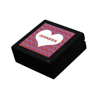 Rojo conocido de encargo del corazón del modelo de cajas de recuerdo