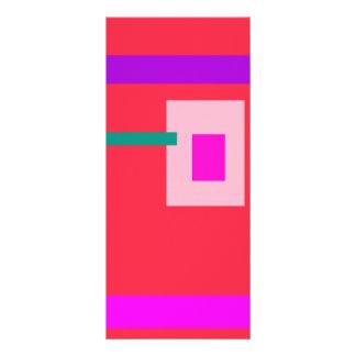 Rojo contemporáneo diseño de tarjeta publicitaria
