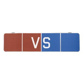 Rojo contra azul mesa de pong