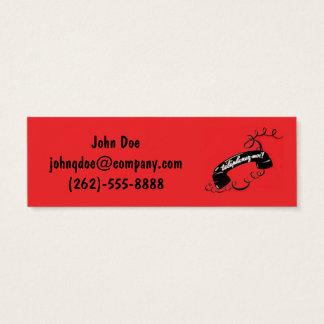 Rojo Corded del teléfono de la tarjeta de visita