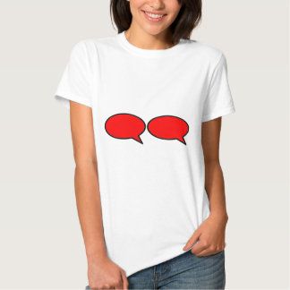Rojo correcto de la burbuja 2 de la palabra los camisetas