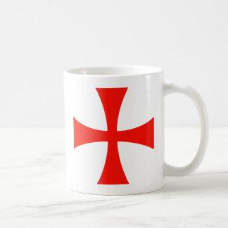 Rojo cruzado de Templar de los caballeros Taza De Café