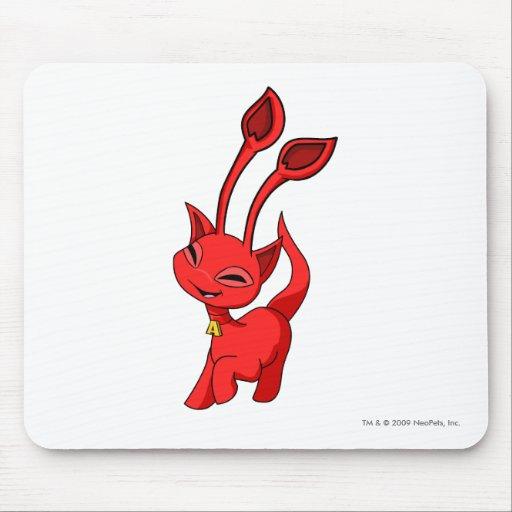 Rojo de Aisha Alfombrillas De Ratón